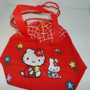 HELLO KITTY DRAWSTRING BAG/ NEW